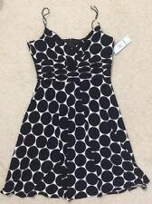 NEW NWT Anne Klein Sleeveless Polka Dot Floral Fantasy Dress, Size 16, $160