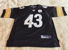 🏉💥 Pittsburg Steelers STITCHED TROY POLAMALU 43 JERSEY 💥🏉 💯Authentic NFL ✔️