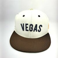 Las Vegas Golden Knights Hockey Snapback Hat Cap American Needle White Gold