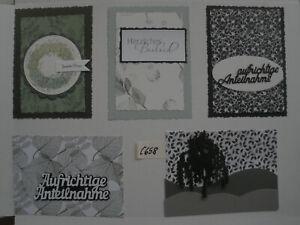 Scrapbooking, Stanzteile, Basteln, Aufleger C 658  Mischung, Trauermotive