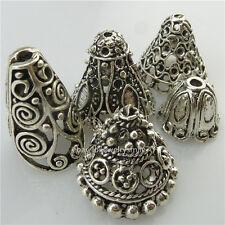 Fashion Mix 5pcs Earring Jewelry Accessory Filigree Silver Leaf Pendant Women