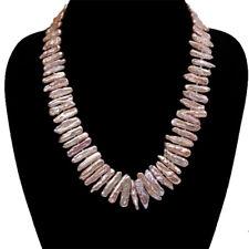 b78828c22 Classic 6x22mm Pink Stick-shaped Biwa Freshwater Cultured Pearl Necklace 18