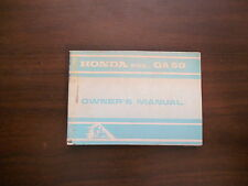 1974 Honda QA50 Owners Manual