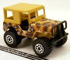 Matchbox Jeep 4x4 CJ Series Tan Desert Camouflage Camo w/Hardtop Roof 1:59 Scale