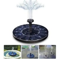 Solar Panel Powered Water Feature Plant Pump Garden Pool Pond Aquarium FountainE