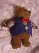 "1998 Toy Box The Barrys Bear 8"" Plush Soft Toy Stuffed Animal Vest Tie"