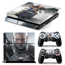 PS4 PlayStation 4 Skin Stickers PVC for Console & 2 Pads ***Witcher White