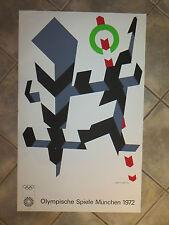 Allan d'Arcangelo : Lithographie, affiche des jeux Olympiques  Munich de 1972.