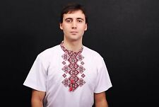 Ukrainian embroidered Mens T-Shirt, sorochka from Ukraine, vyshyvanka, Size XXXL