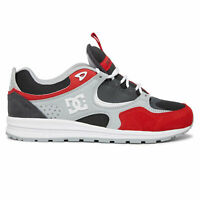 DC Shoes Men's Kalis Lite Low Top Sneaker Shoes Gray/Red Footwear Skateboardi...