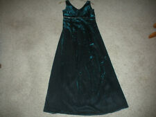 Vtg Scott Mcclintock Dark Teal Metallic Look Long Evening Gown Size 6 Euc