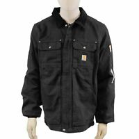 NEW Carhartt Men's Full Swing Washed Duck Insulated Traditional Coat - Black - M