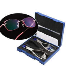 34pcs Professional Plier Repair Tool Kit with Case for Rimless Frame Eye Glasses