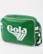 Gola Redford Shoulder Bag in Green - retro messenger holdall 70s 80s old school