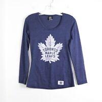 Toronto Maple Leafs NHL primary logo long sleeve top blue M Medium hockey sport