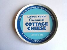 Vintage Borden Company Large Curd Cottage Cheese Tin Lid Only