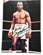 """Autographed Photo of Sugar Ray Leonard - 4""""x 6"""", Authentic and near mint"""