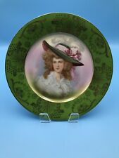 Schwarzburg German Plate Signed Portrait