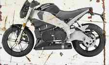 Buell Lightning CityX XB9S 2006 Aged Vintage SIGN A3 LARGE Retro