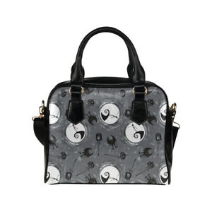 Grey Nightmare Before Christmas Jack Ladies Small Handbag, Crossbody Bag