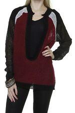 Grobe hüftlange Damen-Pullover & -Strickware mit U-Ausschnitt