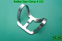 6 Endodontic Rubber Dam Clamp #212 Surgical Dental Instruments