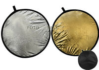 "32"" 2-in-1 Photo Light Mulit Collapsible disc Reflector 80cm Silver & Golden"