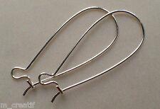 crochet boucle d'oreille x26 argent laiton 33mm sans nickel kadmium plomb