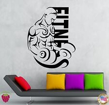Wall Stickers Vinyl Decal Fitness Bodybuilding Iron Sport Crossfit (z1970)