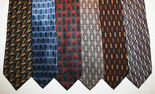 NEW Lot of 6 Designer Neck Ties with Patterns, Kenneth Cole and more L011