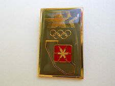 """Olympic PIN PACIFIC BELL Vtg. '84 """"Pac Bel"""" Logo in California w/ Stars & Rings"""