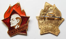 Abzeichen Pin Anstecker Lenin Pioniere Schule UDSSR CCCP Sowjetunion