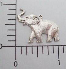 44224 Matte Silver Oxidized Elephant Charm Brass Jewelry Finding