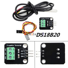 DS18B20 Temperature Sensor Module WaterProof  Probe+Terminal Adapter For Arduino