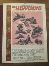 Cheyenne Autumn-  Original 30 x 40   Movie Poster-  James Stewart