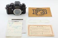 Read!【 UNUSED 】 Nikon F3/T HP Black 35mm SLR Film Camera Body From JAPAN #541