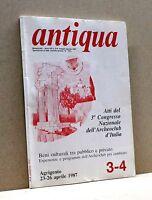 ANTIQUA [Rivista, Bimestrale - Anno XII n.3-4, maggio-agosto 1987]