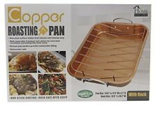 Home Innovations Copper Non-Stick Roasting Pan Large Size  NEW in Box