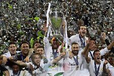 Poster A3 Real Madrid Sergio Ramos Modric Bale Benzema Champions Winners