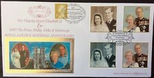 Benham 1997 Golden Wedding Anniversary FDC Doubled Ltd 1/250 Buckingham Palace R