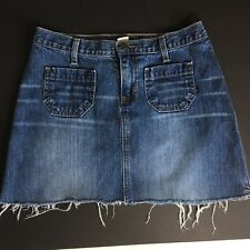 Women's Abercrombie & Fitch denim Mini skirt Jean skirt size 2 Med wash (Sy4)
