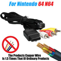 For N64, Gamecube & SNES Super Nintendo AV Lead Composite RCA Video Cable 1.8m