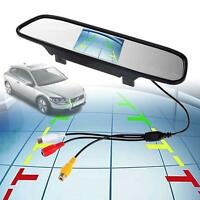 """4.3"""" TFT LCD Color Monitor Car Reverse Rear View Mirror for Backup Camera MT"""