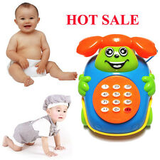 2016 Baby Toys Music Cartoon Phone Educational Developmental Kids Toy Xmas Gifts