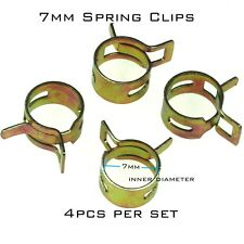 4x  Fuel Line Hose Tube Spring Clips Clamps 7mm for Steel Band Scooter ATV