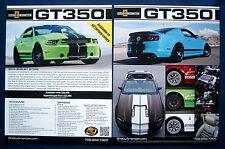 Prospekt brochure 2013 Ford Mustang Shelby GT350 (USA)
