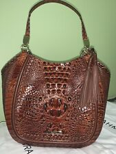 NWT Brahmin Marianna Tote Pecan Ross Woven Leather