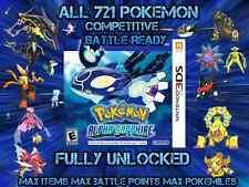 Unlocked Pokemon Alpha Sapphire All 721 Shiny All Items Max Money And More