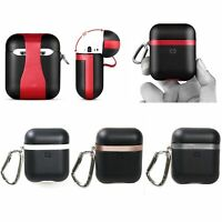 For New AirPods Airpod Charging Case New Leather Case Cover Hook Keychain