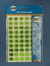 Hillman Price Labels 34 Garage Sale Yard Sale Etc 600 Pcs 848617 Assorted